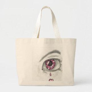 caramelo del ojo bolsa tela grande