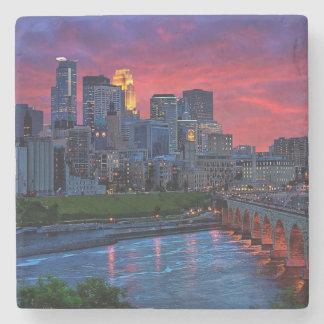 Caramelo del ojo de Minneapolis Posavasos De Piedra