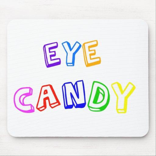 Caramelo del ojo mousepads