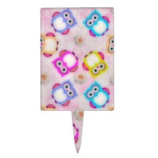 Caramelo del papel pintado de los búhos decoración para tarta