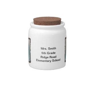 Caramelo del profesor o tarro personalizado de la  jarras para caramelos