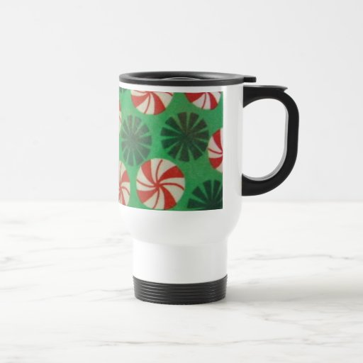 Caramelo del remolino de la hierbabuena taza de viaje de acero inoxidable