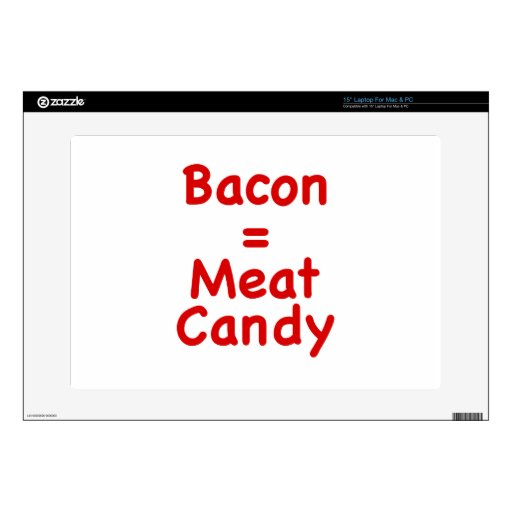 Caramelo del tocino = de la carne portátil 38,1cm skins