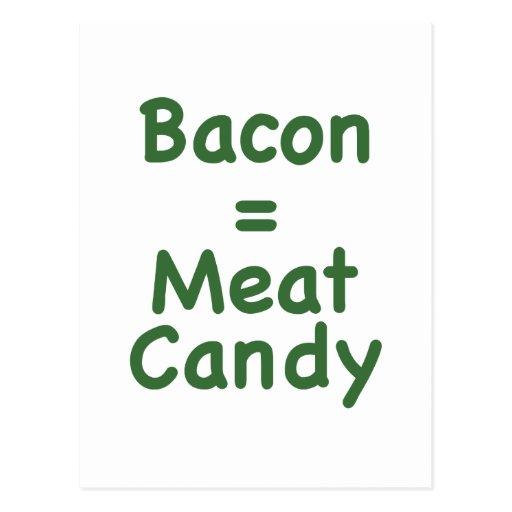 Caramelo del tocino = de la carne postales