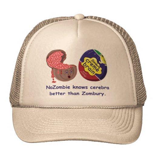 Caramelo divertido del cerebro del zombi gorras