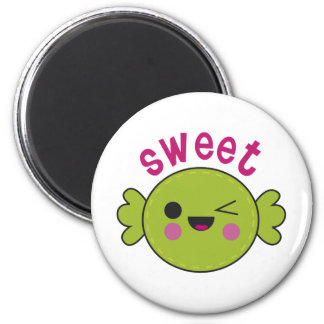 Caramelo dulce imán redondo 5 cm