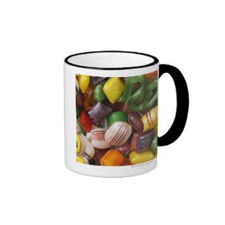 Caramelo duro, marco completo taza de dos colores
