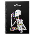 Caramelo esquelético de la consumición Halloween Libro De Apuntes Con Espiral