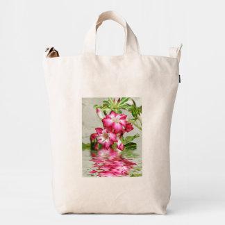 Caramelo floral del ojo bolsa de lona duck