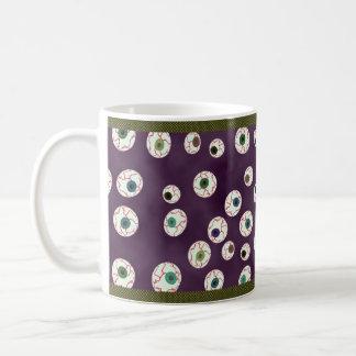 Caramelo flotante de la bola del ojo del color de tazas de café