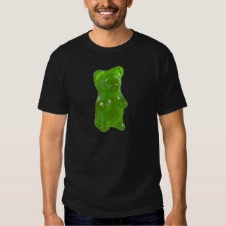 Caramelo gomoso verde del oso camisas