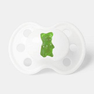Caramelo gomoso verde del oso chupete de bebe
