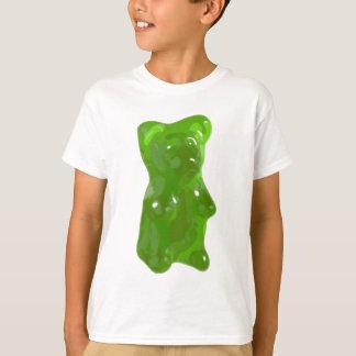 Caramelo gomoso verde del oso playera