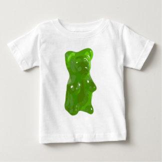 Caramelo gomoso verde del oso playera para bebé