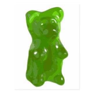 Caramelo gomoso verde del oso tarjetas postales