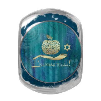 Caramelo judío del regalo del Año Nuevo el | Rosh Frascos De Cristal Jelly Belly