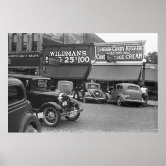 Caramelo Kitchen, 1938 de Londres Poster