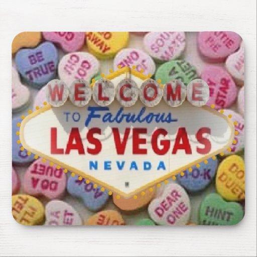 Caramelo Las Vegas Mousepad del corazón Alfombrilla De Ratones