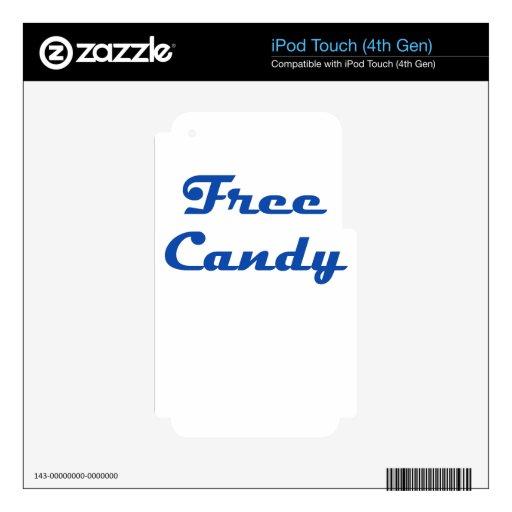 Caramelo libre iPod touch 4G calcomanías
