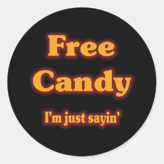 Caramelo libre pegatinas redondas