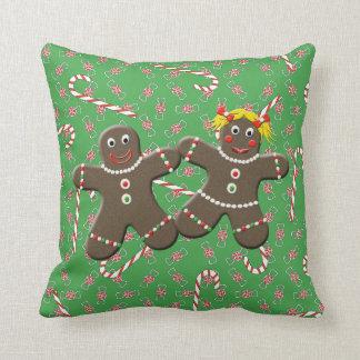 Caramelo lindo del navidad del chica del muchacho cojin