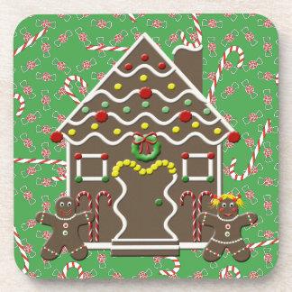 Caramelo lindo del navidad del chica del muchacho posavasos