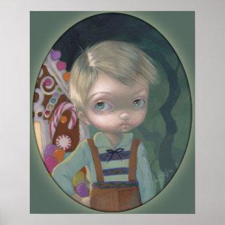 Caramelo lowbrow de Gretel del ojo grande de la IM Poster