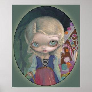 Caramelo lowbrow de Hansel del ojo grande de la IM Posters