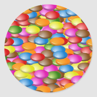 Caramelo Etiquetas Redondas