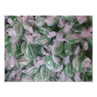 Caramelo rayado verde fotos