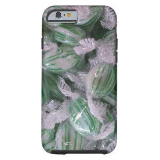 Caramelo rayado verde funda de iPhone 6 tough