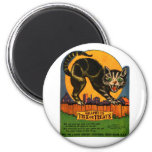Caramelo retro del gato negro de Halloween del kit Iman De Frigorífico