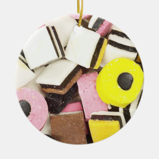Caramelo retro del regaliz adorno redondo de cerámica