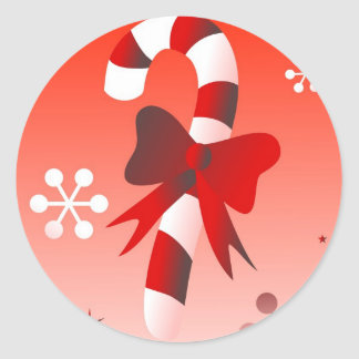 Caramelo retro pegatina redonda