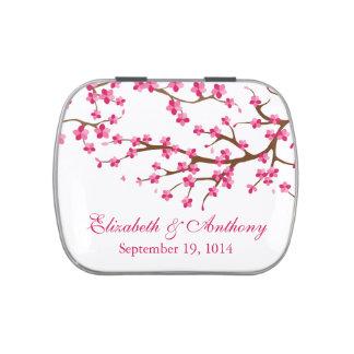 Caramelo rosado hermoso del favor del boda de la f frascos de dulces