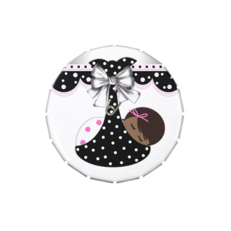 Caramelo rosado y negro dulce de la fiesta de frascos de caramelos
