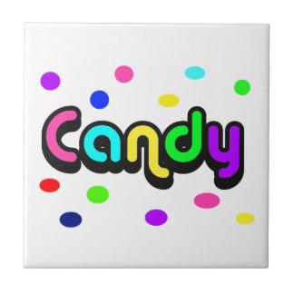 Caramelo-teja Azulejo Cuadrado Pequeño