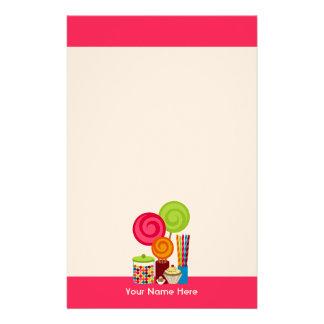 Caramelo y efectos de escritorio de los dulces  papeleria