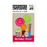 Caramelo y fiesta de cumpleaños de los dulces franqueo
