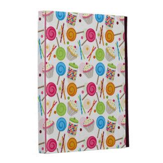 Caramelo y folio del iPad del modelo de los dulces