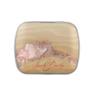 Caramelo y mentas elegantes del favor del boda de  jarrones de caramelos