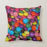 Caramelos coloridos almohadas