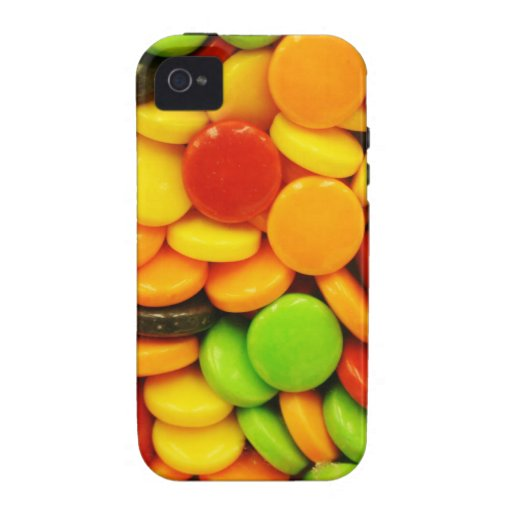 Caramelos coloridos de la tableta vibe iPhone 4 carcasas