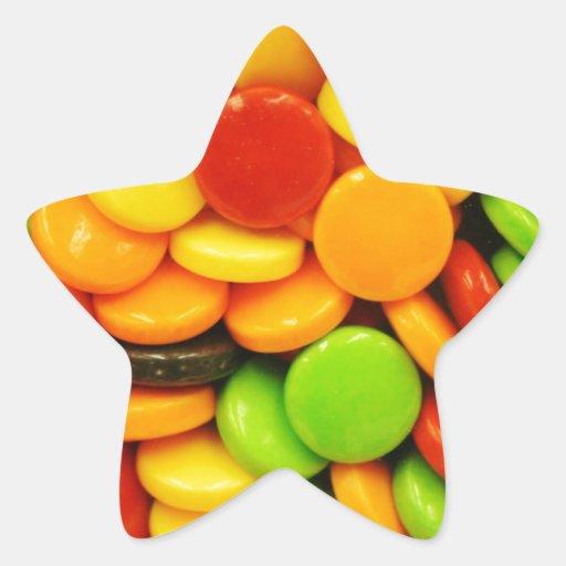 Caramelos coloridos de la tableta colcomanias forma de estrellaes personalizadas
