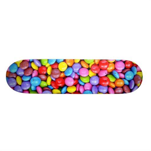 Caramelos coloridos tablas de patinar