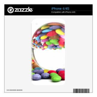 Caramelos con una bola de cristal iPhone 4S calcomanía