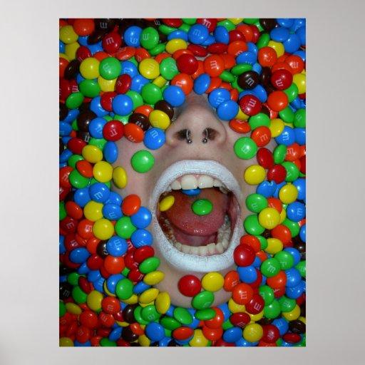 Caramelos consumidos póster