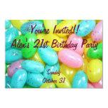 """Caramelos de la haba de jalea invitación 3.5"""" x 5"""""""