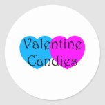 Caramelos de la tarjeta del día de San Valentín Etiqueta