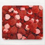 Caramelos de la tarjeta del día de San Valentín Tapete De Ratones